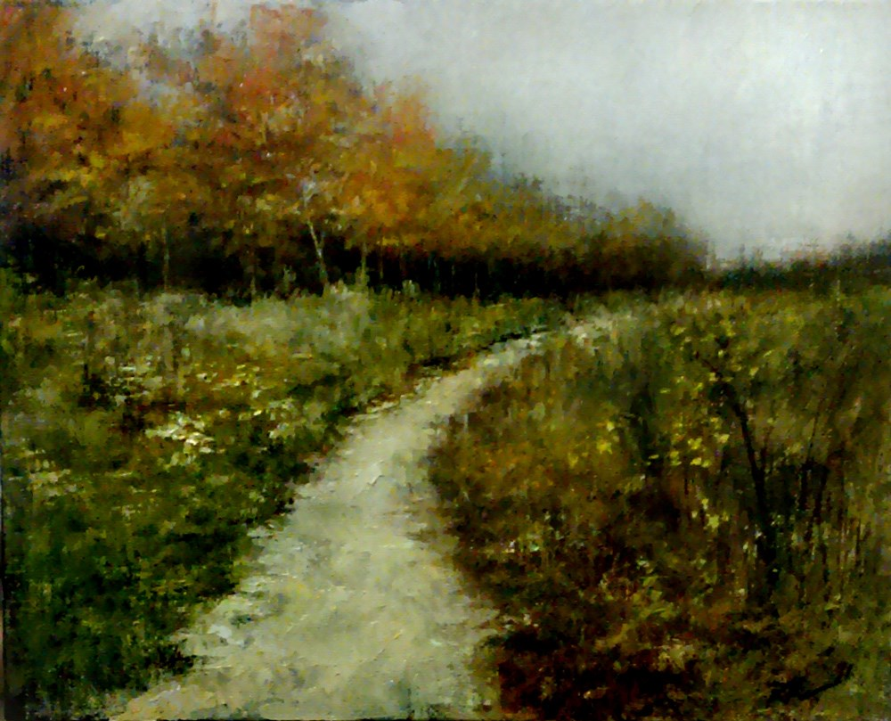 """The Trail Along the Woods"" original fine art by Bob Kimball"