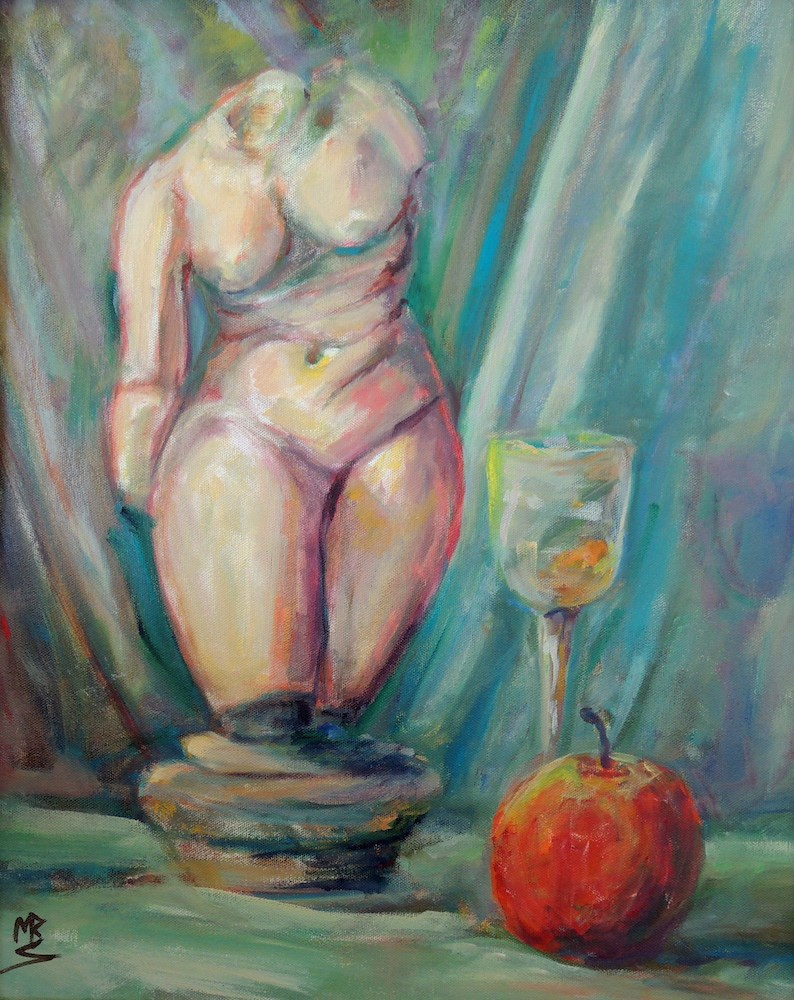 """Toast to Eve"" original fine art by Mary Schiros"
