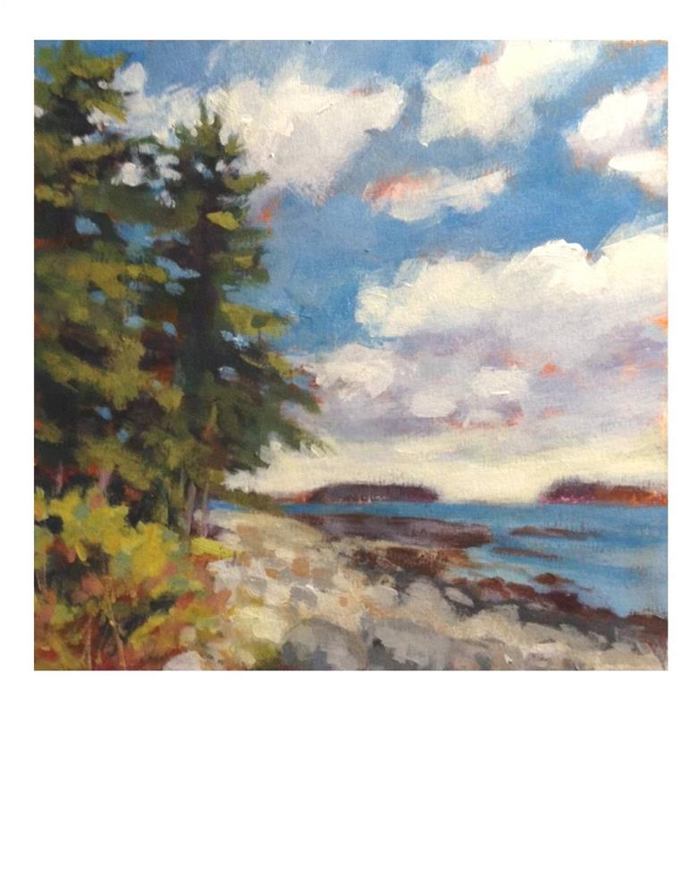 """Port Clyde Summer Day II"" original fine art by Suzanne Woodward"