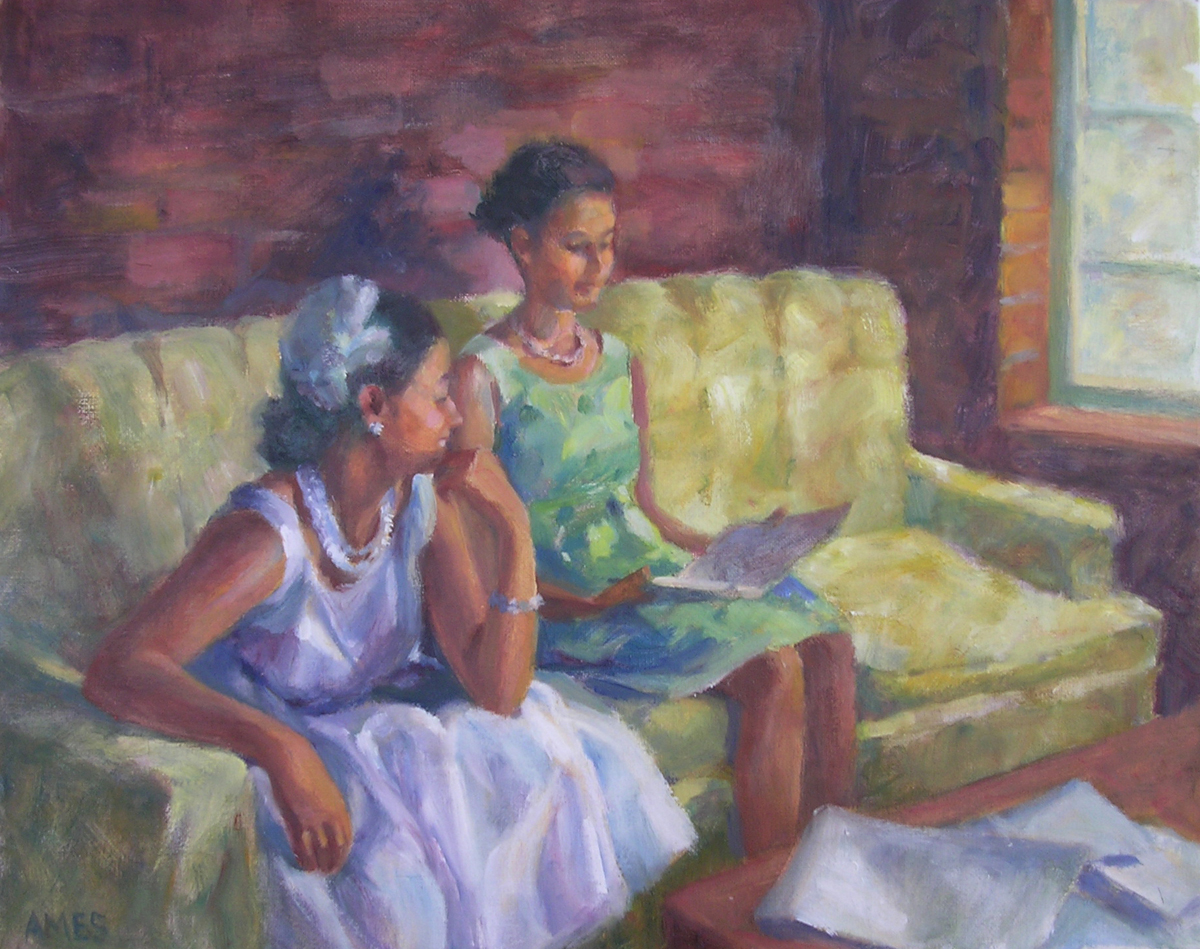 """Vintage Ladies"" original fine art by Debra Ames"