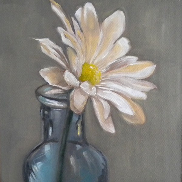 """Daisy Blue"" original fine art by Darla McDowell"