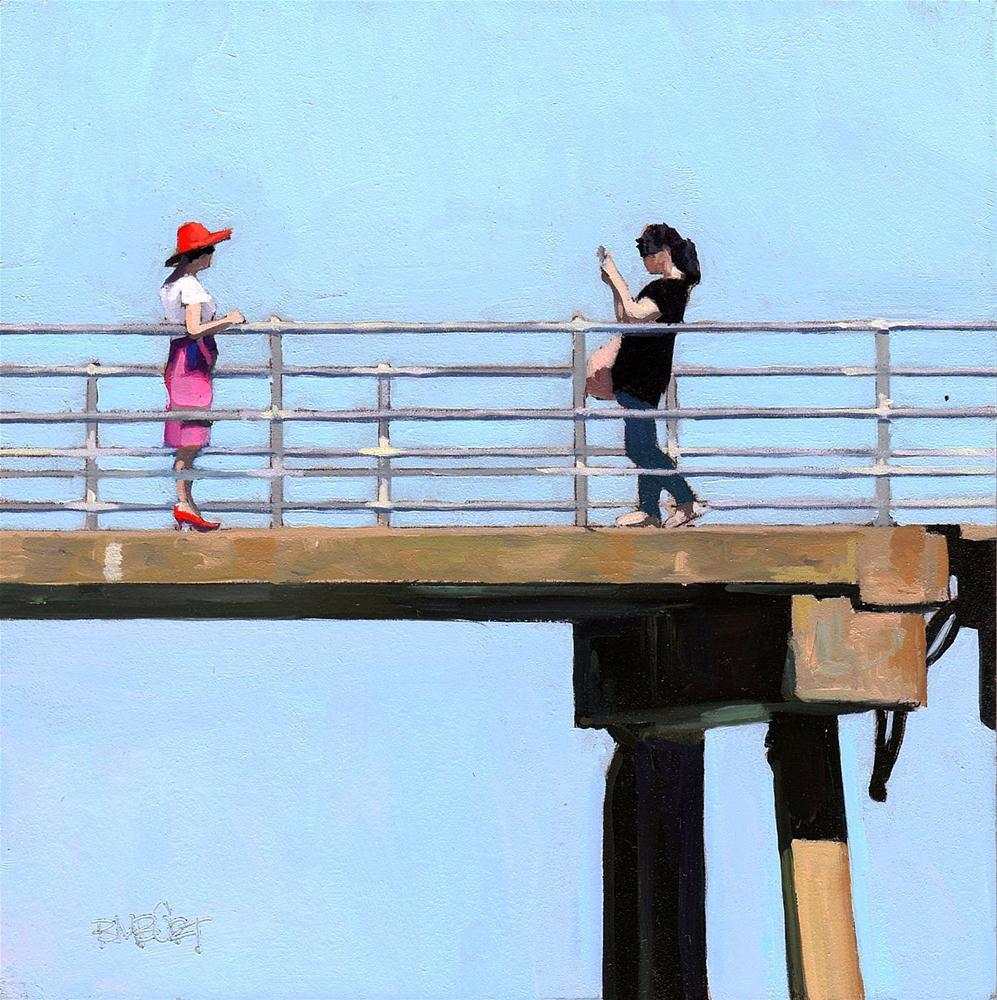 """#300 The Pier"" original fine art by Brian Burt"