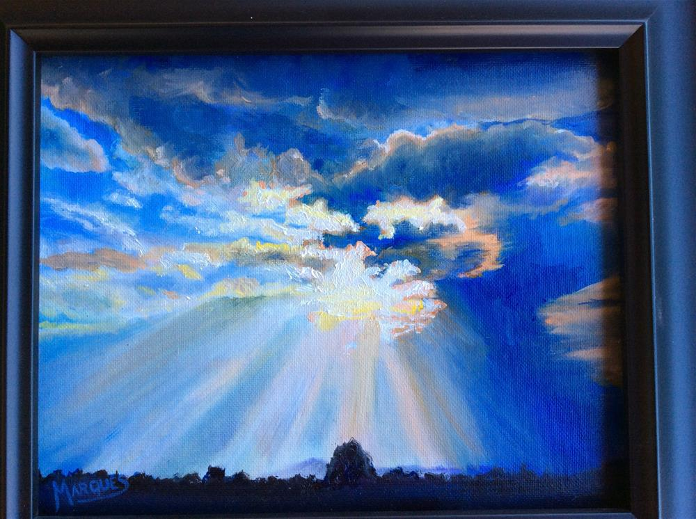 """Stormy skys"" original fine art by Kathy Marques"
