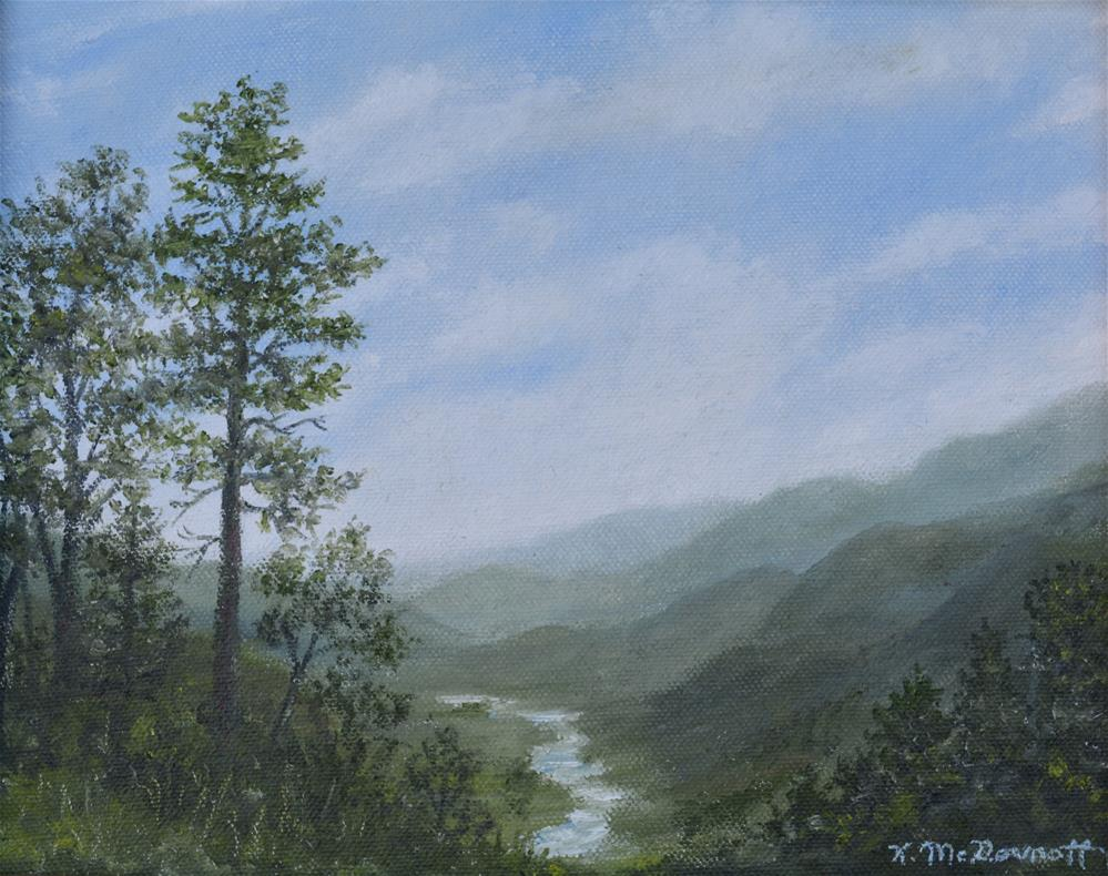 """MOUNTAIN VISTA # 1"" original fine art by Kathleen McDermott"