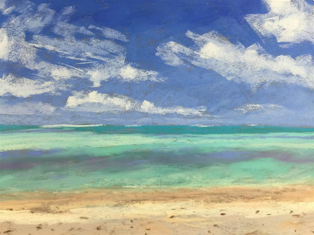 """Tahiti Turquoise "" original fine art by Michelle Wells Grant"