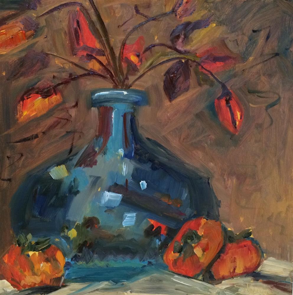 """Blue Vase Still Life"" original fine art by Shawn Deitch"