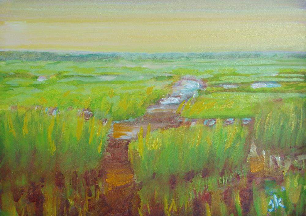 """Spring Marsh"" original fine art by J Kelsey"
