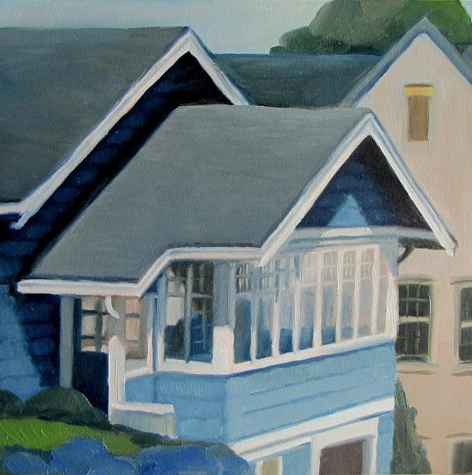 """Blue Sun Porch"" original fine art by Nora Bergman"