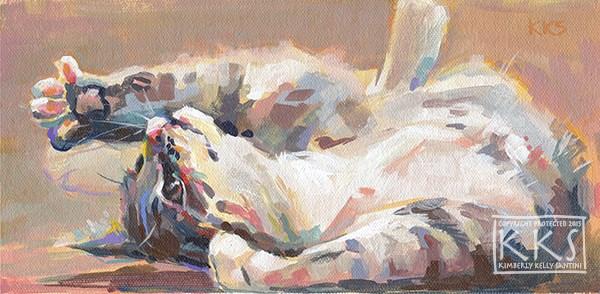 """Lying in Wait"" original fine art by Kimberly Santini"