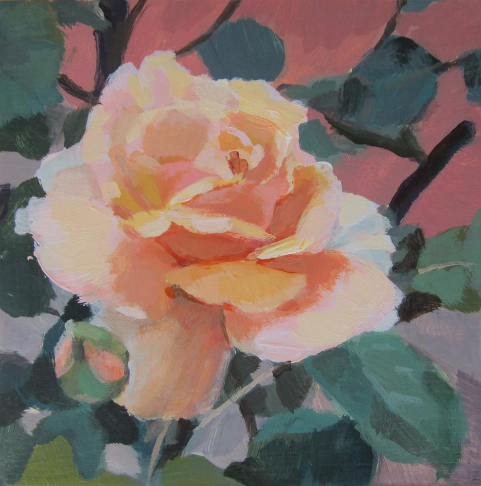 """Rose #3"" original fine art by Kaethe Bealer"