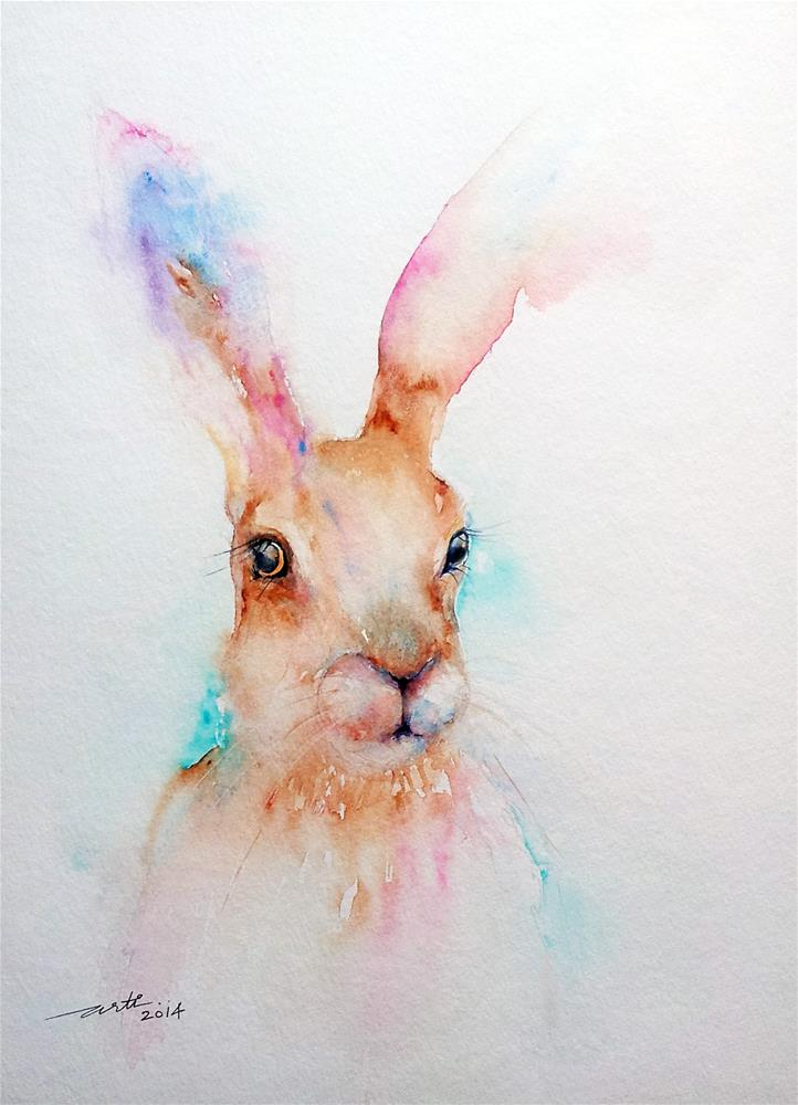 """The Brown Hare"" original fine art by Arti Chauhan"