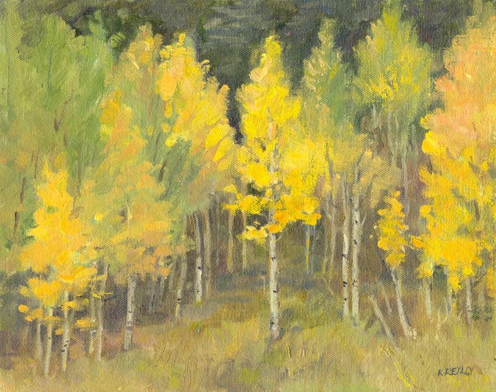 """Aspen Grove"" original fine art by Kath Reilly"