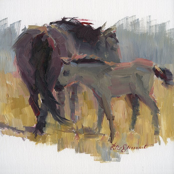 """Reservation Ponies"" original fine art by B. Rex Stewart"