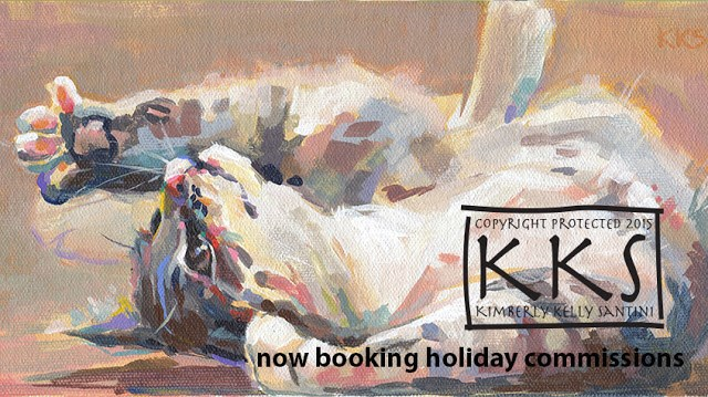 """Holiday Specials"" original fine art by Kimberly Santini"