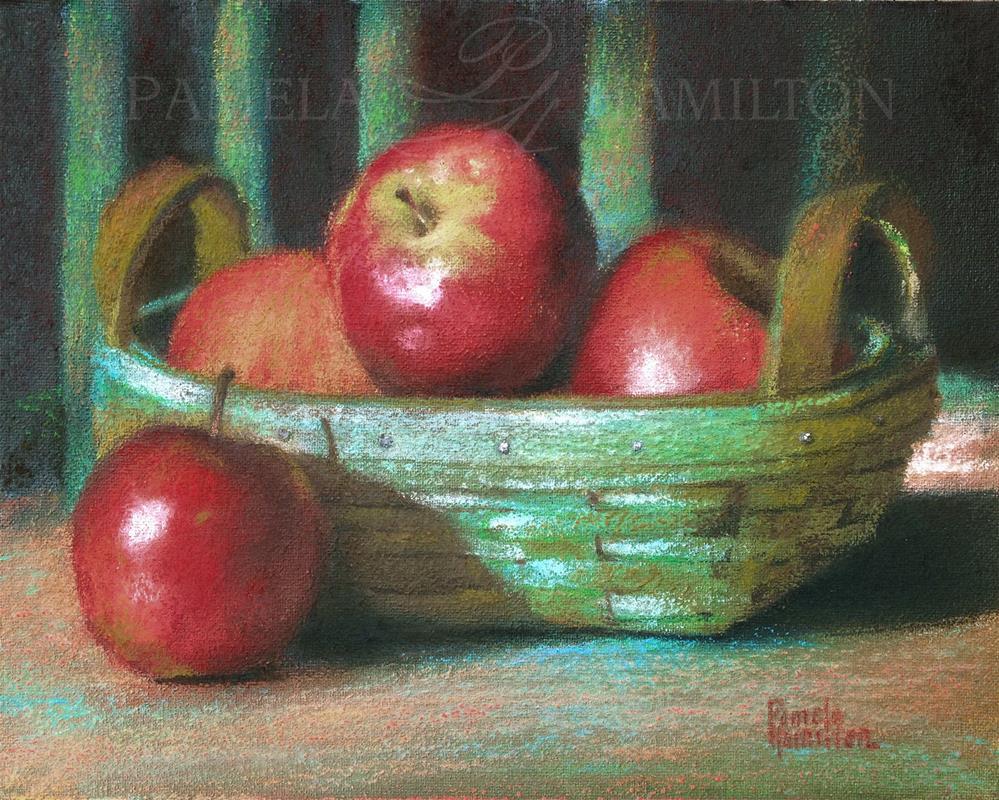 """Apple Basket"" original fine art by Pamela Hamilton"