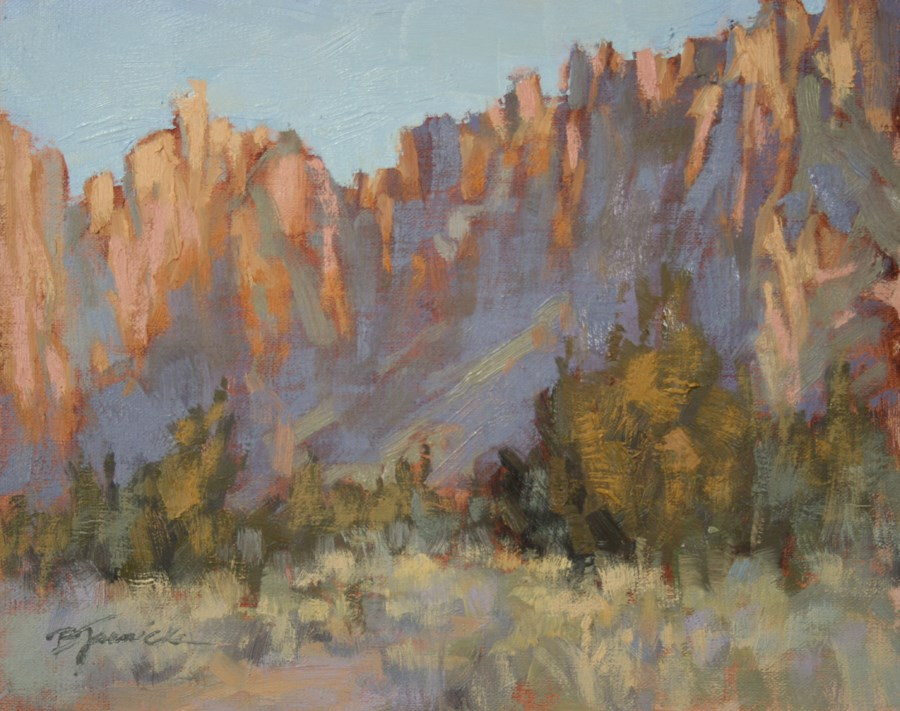 """Smith Rock Study, Mid Morning in March"" original fine art by Barbara Jaenicke"