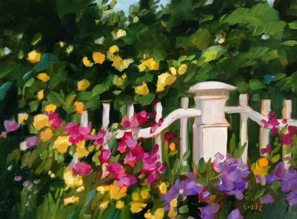 """Garden Delights"" original fine art by Libby Anderson"