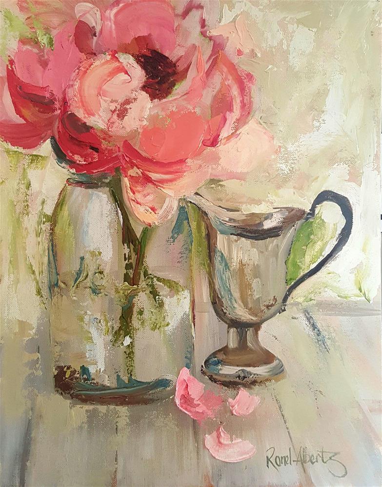 """""""BEAUTY IN A JAM JAR"""" original fine art by Ronel Alberts"""