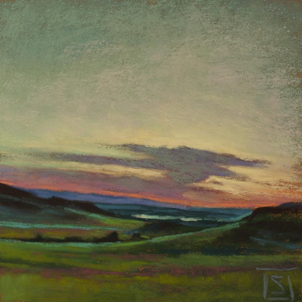 """East Montana Evening"" original fine art by Sheila Evans"