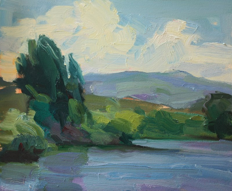 """Bennington Lake"" original fine art by Kathryn Townsend"