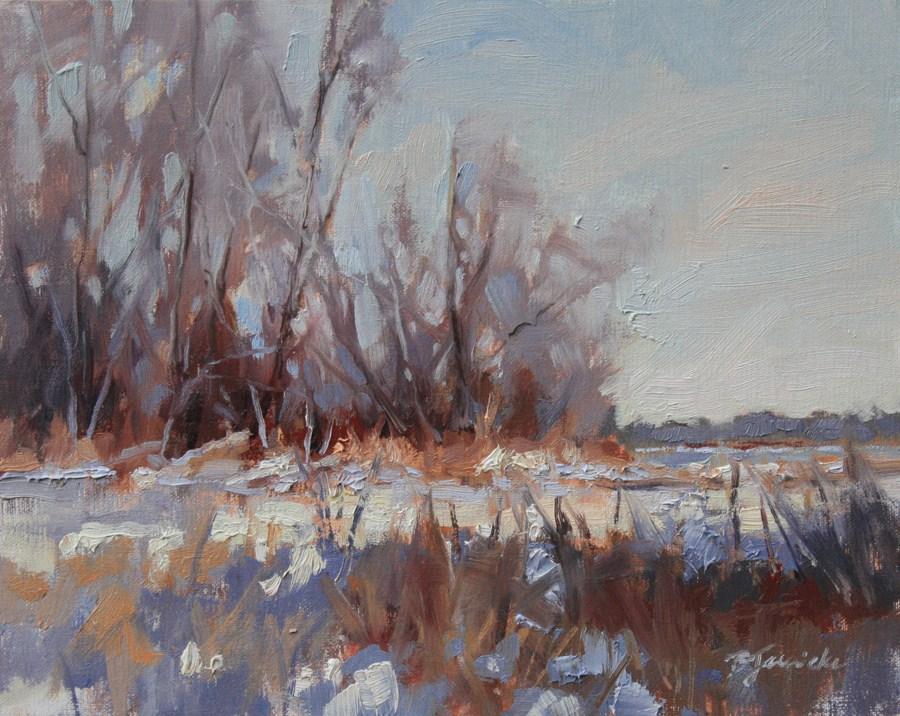 """Silver Lake Trees"" original fine art by Barbara Jaenicke"
