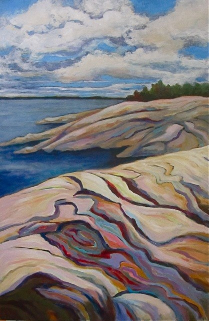 """Georgian Bay Vista"" original fine art by Patricia MacDonald"