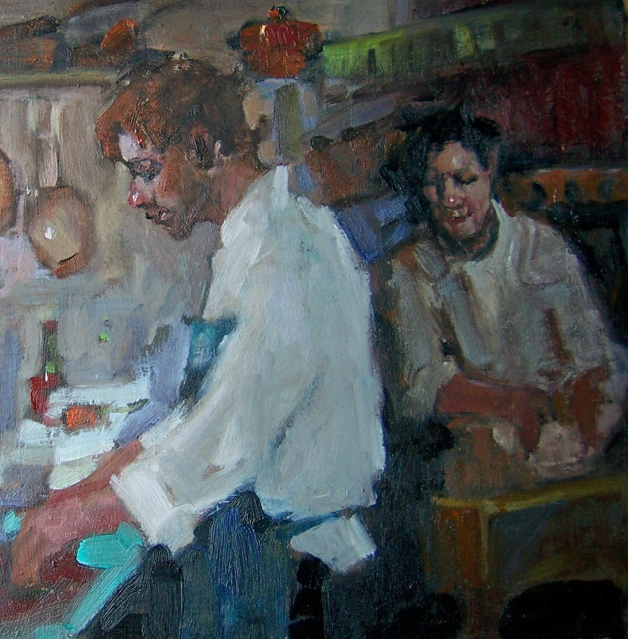"""In The Kitchen"" original fine art by Kim Roberti"