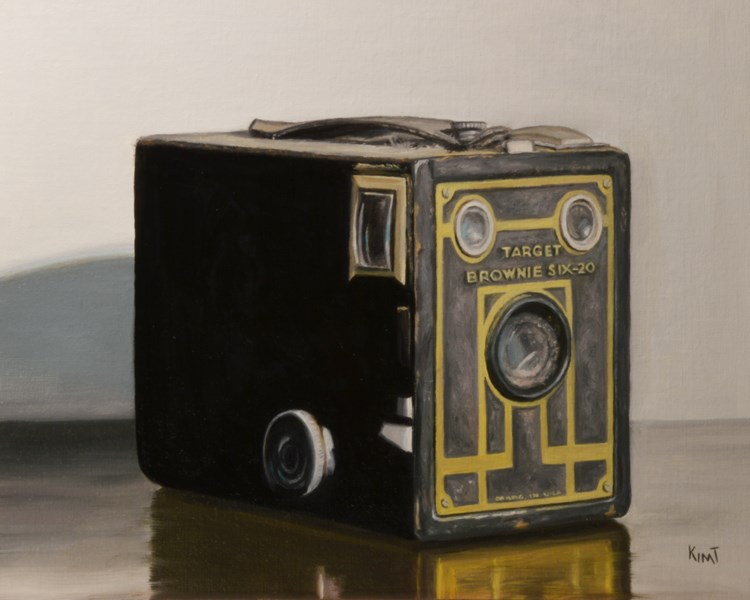 """Grandpap's Vintage Camera 2"" original fine art by Kim Testone"