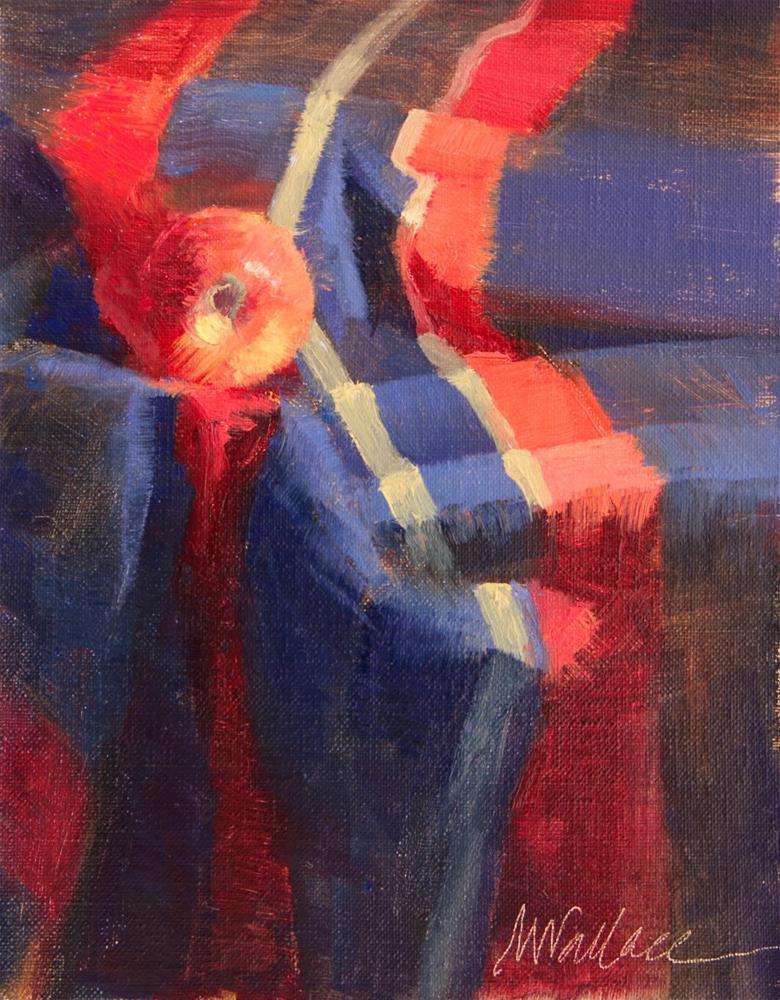 """""""#109 apple in folds"""" original fine art by Nancy Wallace"""