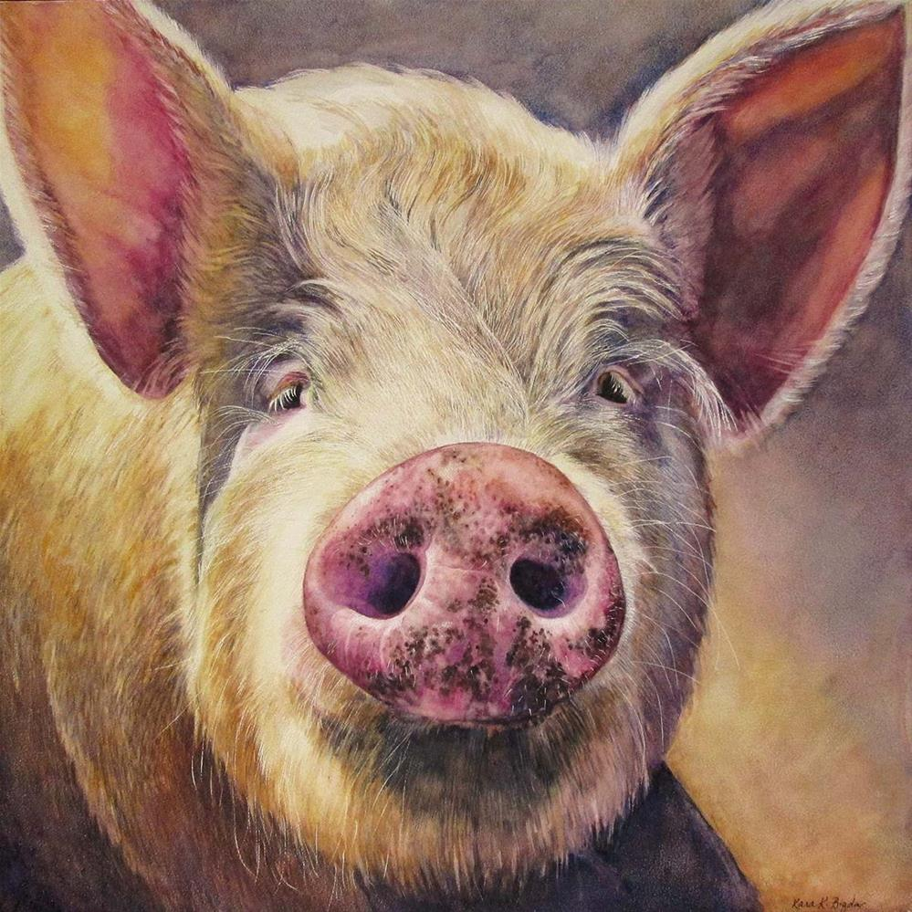 """This Little Piggy"" original fine art by Kara K. Bigda"