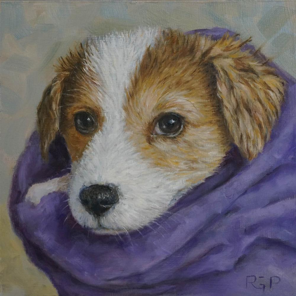 """Dipper (after a bath)"" original fine art by Rhea  Groepper Pettit"