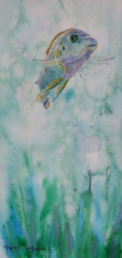 """""""Fishing For Compliments"""" original fine art by Jana Johnson"""
