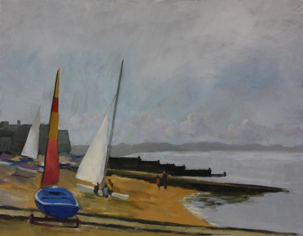 """West across Whitstable Bay"" original fine art by Graham Townsend"