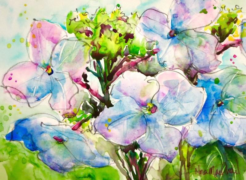 """spring forward"" original fine art by Nora MacPhail"