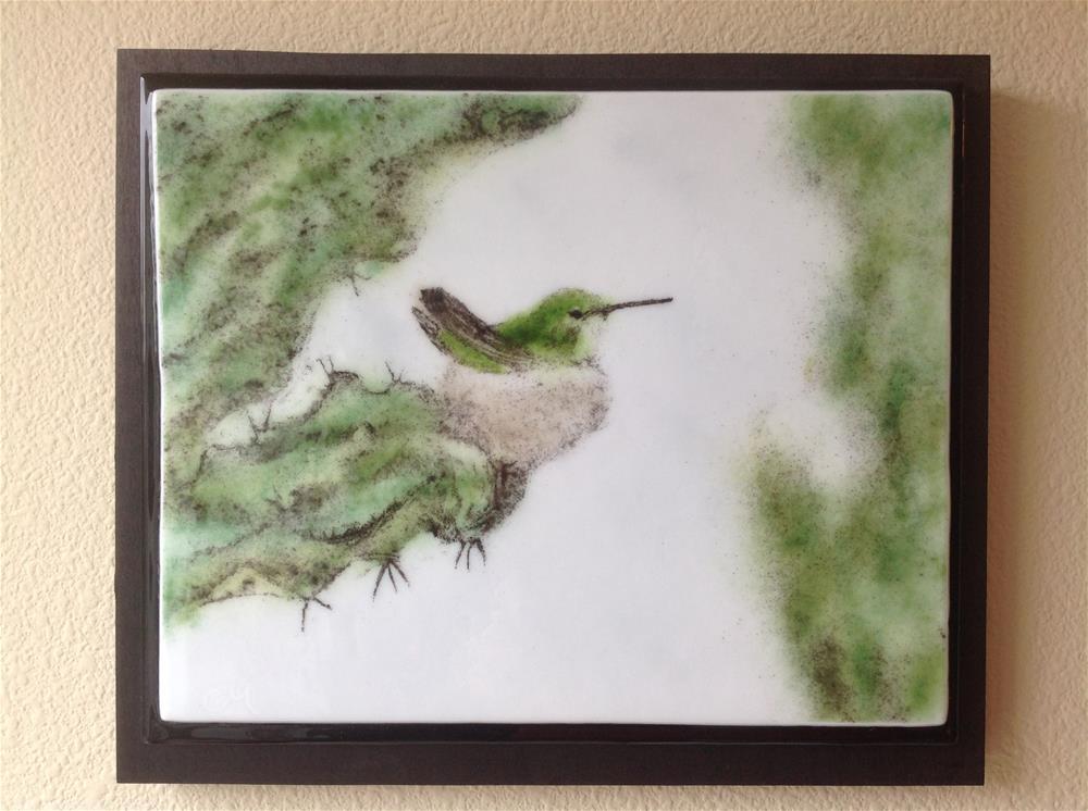 """Nesting Hummingbird"" original fine art by Calloway Meiners"