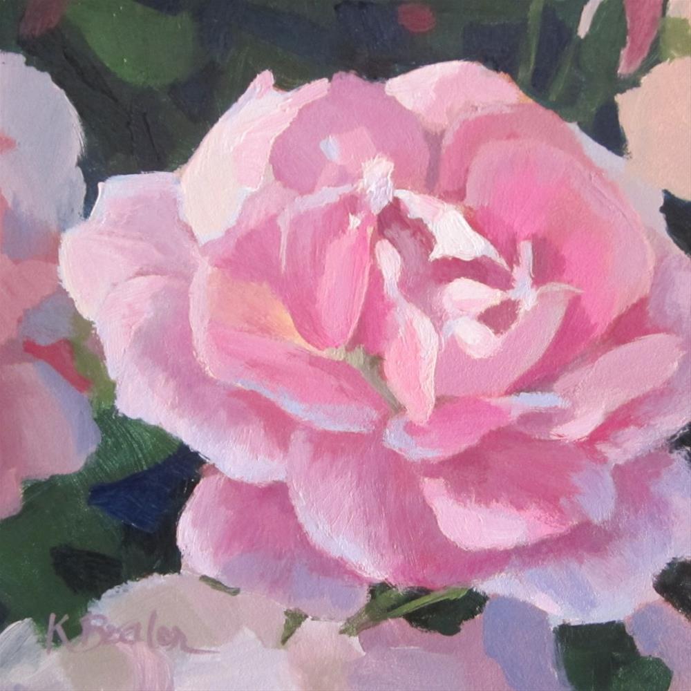 """""""Pink and Blue"""" original fine art by Kaethe Bealer"""