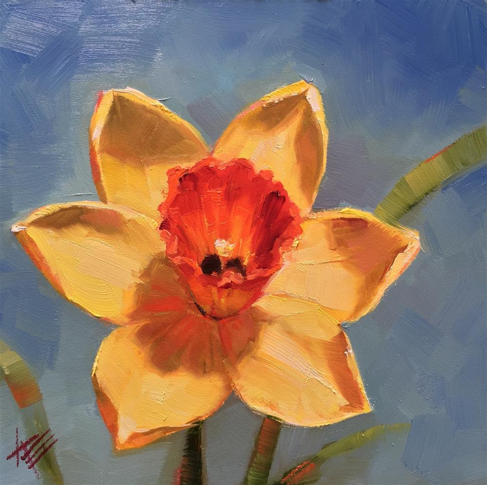 """Daffodil in Sunshine"" original fine art by Krista Eaton"