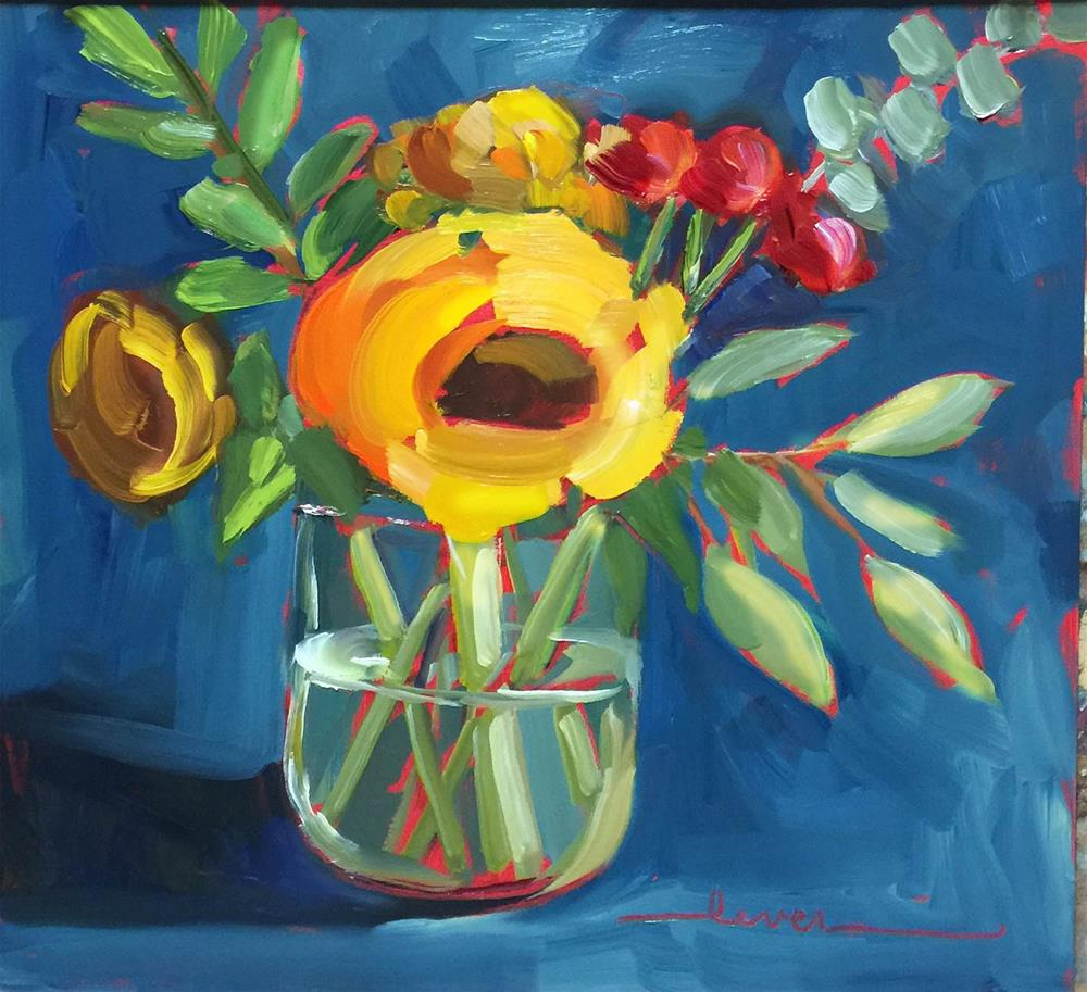 """Sunny and Blue"" original fine art by Martha Lever"