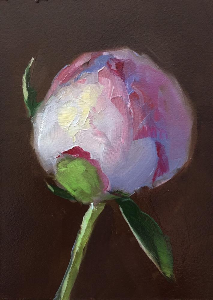 """Peony Bud"" original fine art by Gary Bruton"