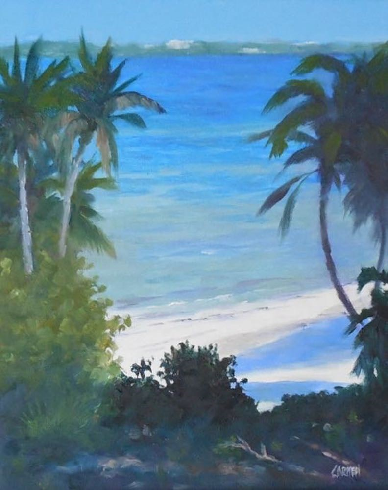 """""""Oil Painting, Indian River Lagoon, 8x10 Daily Painting"""" original fine art by Carmen Beecher"""
