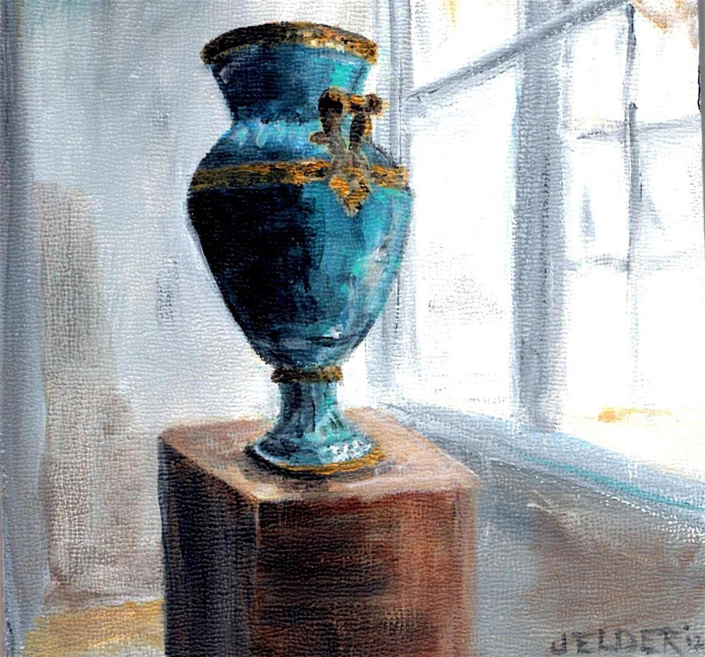 """Louvre No. 3"" original fine art by Judith Elder"