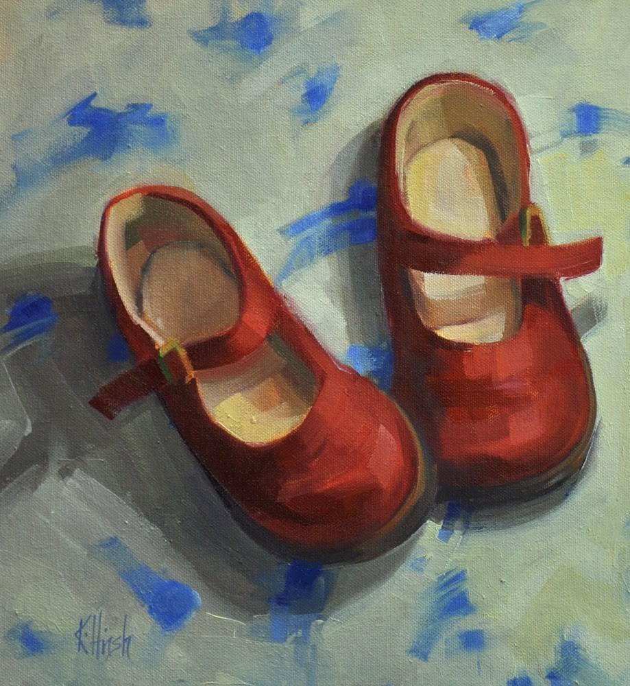 """Red Shoes 1"" original fine art by kathy hirsh"