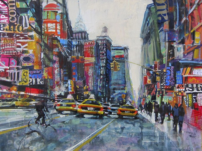 """Heading Uptown"" original fine art by Patti Mollica"