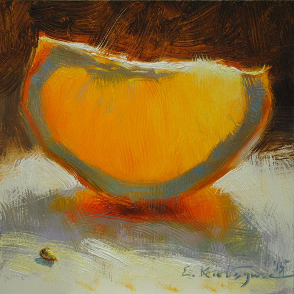 """February Orange"" original fine art by Elena Katsyura"