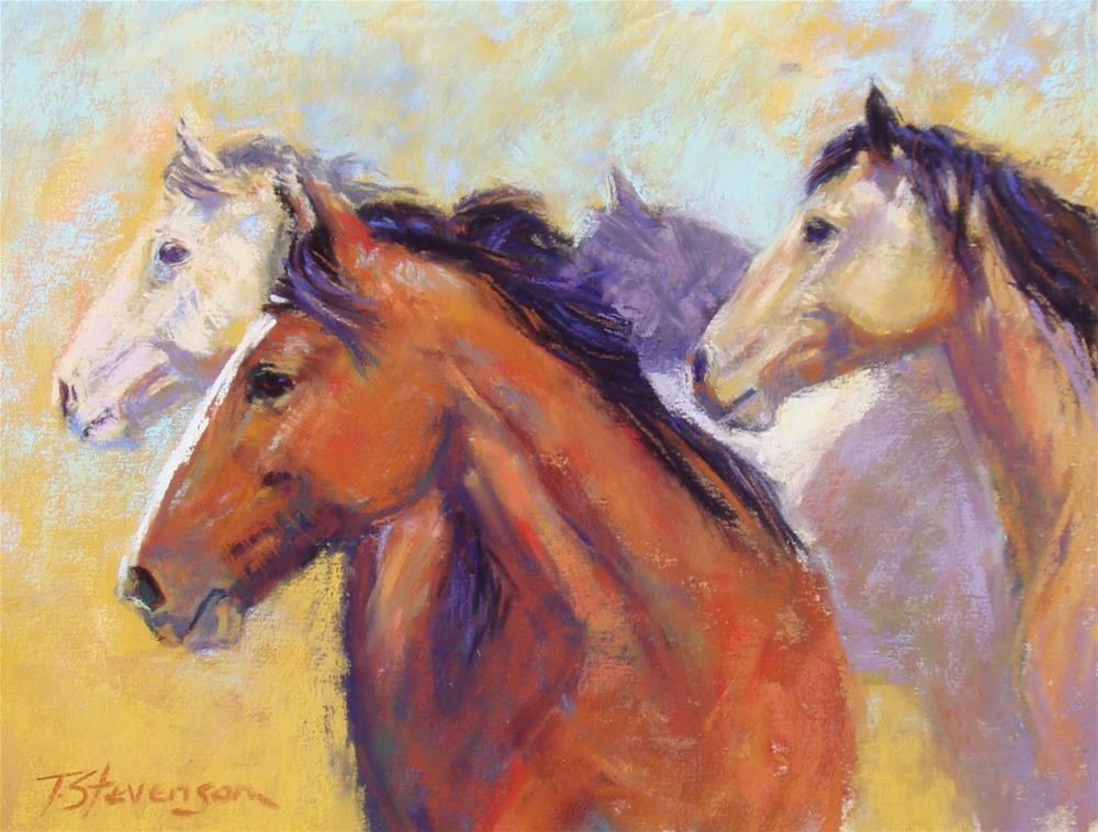"""On Alert"" original fine art by Trish Stevenson"
