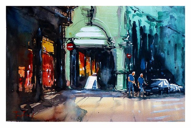 """Altstadt"" original fine art by Jurij Frey"