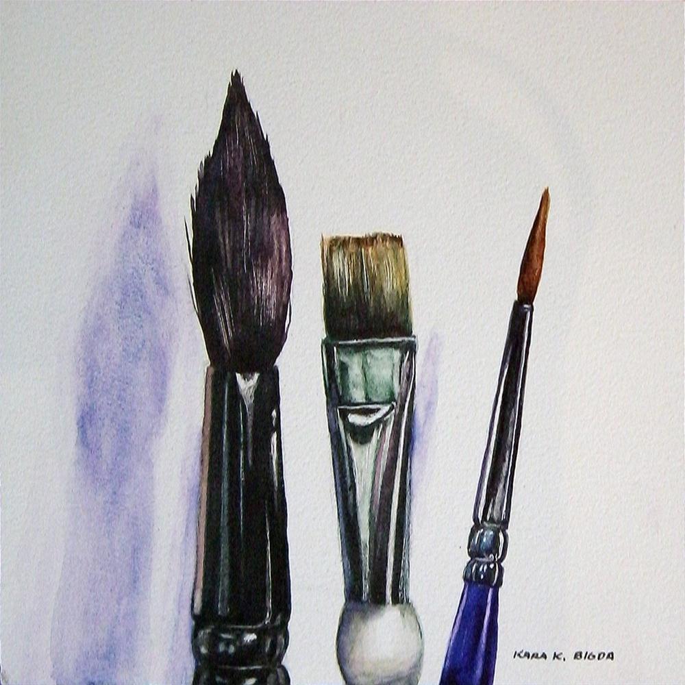 """My Buddies"" original fine art by Kara K. Bigda"