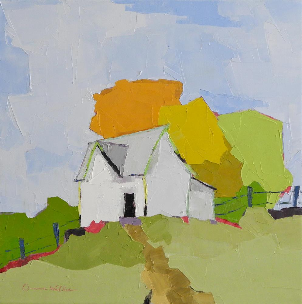 """Hilltop Homestead"" original fine art by Donna Walker"