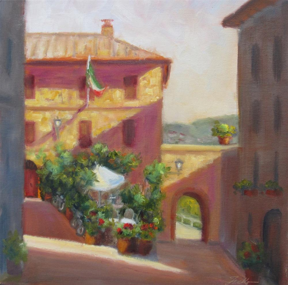 """Tuscan Corner"" original fine art by Pat Fiorello"