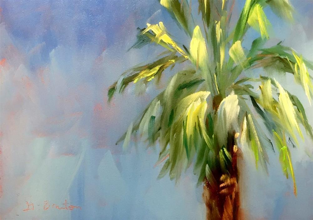 """""""Palm Closeup Plein Air"""" original fine art by Gary Bruton"""